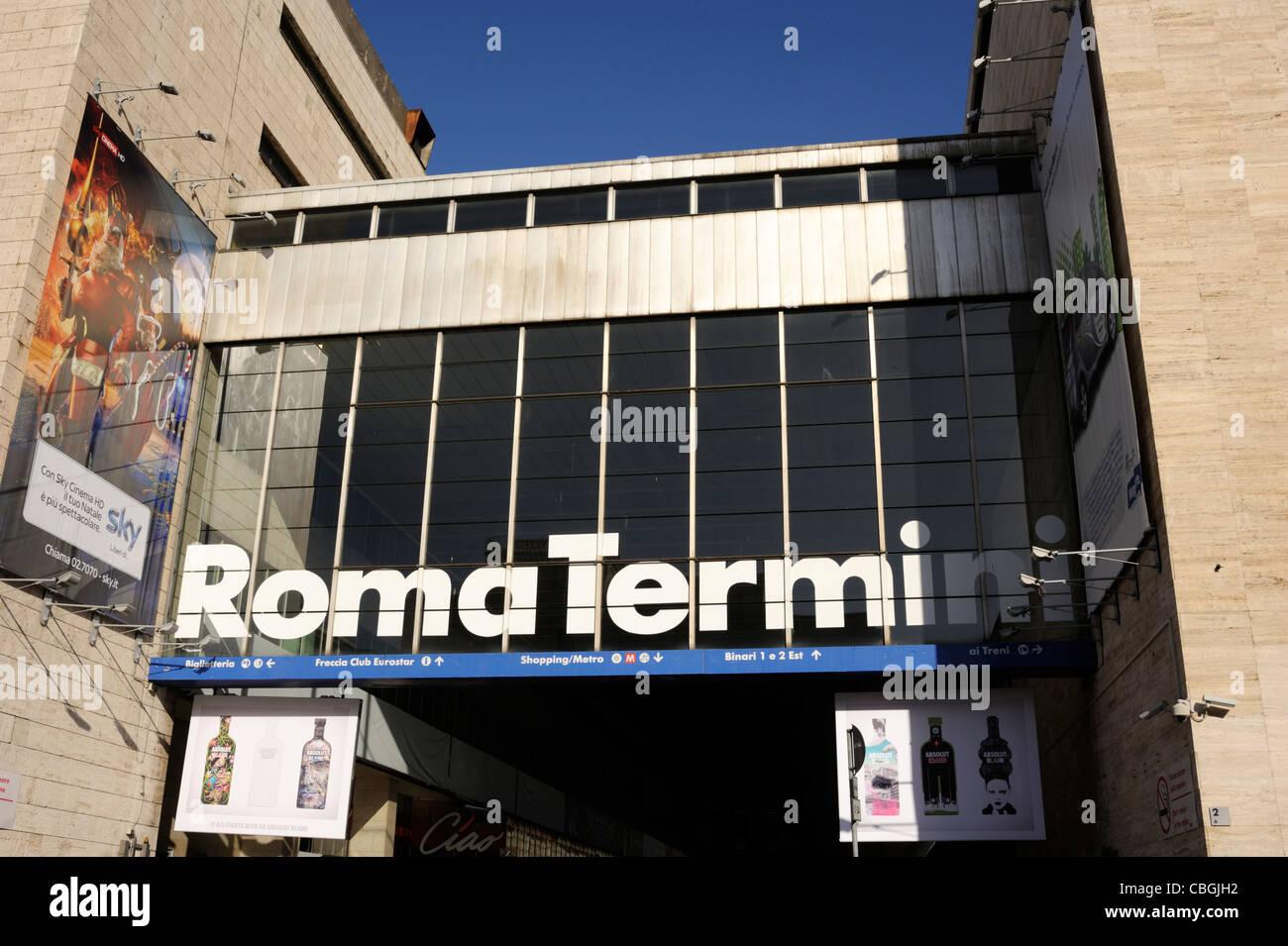 italy, rome, roma termini train station - Stock Image