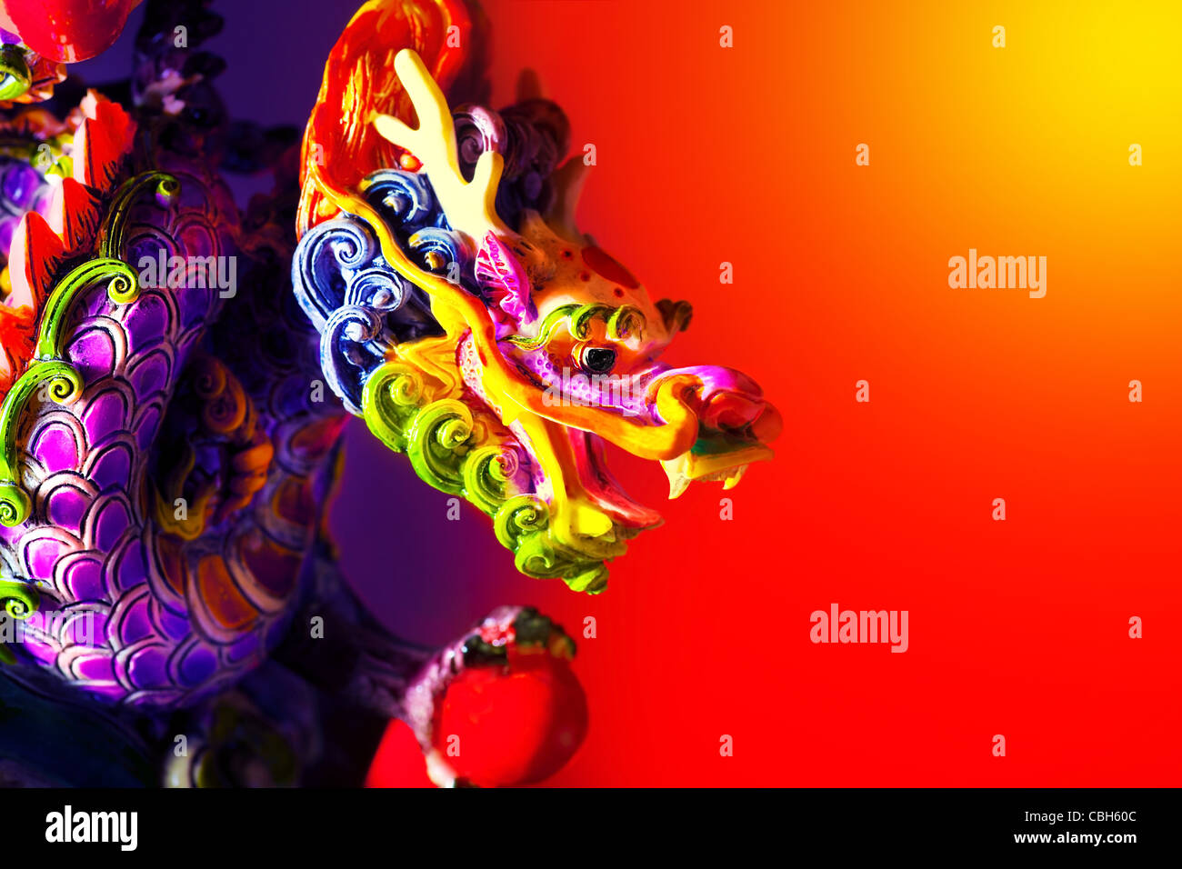 colorful dragon head border traditional asian decoration and ornamental art chinese zodiac astrology sign 2012 new year