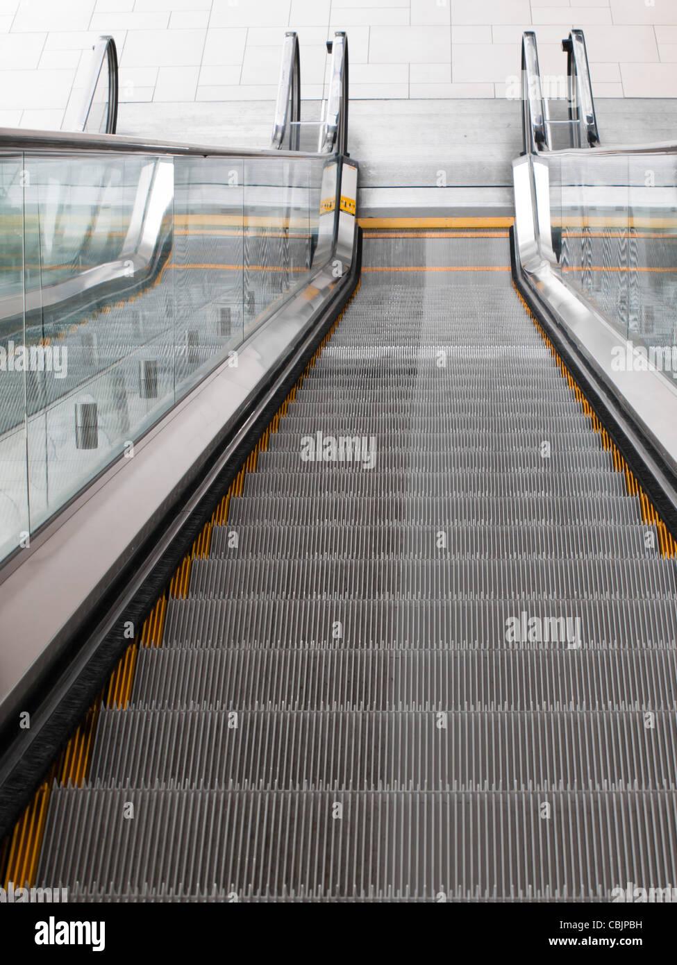 Escalator at the Colorado Convention Center in Downtown Denver. - Stock Image