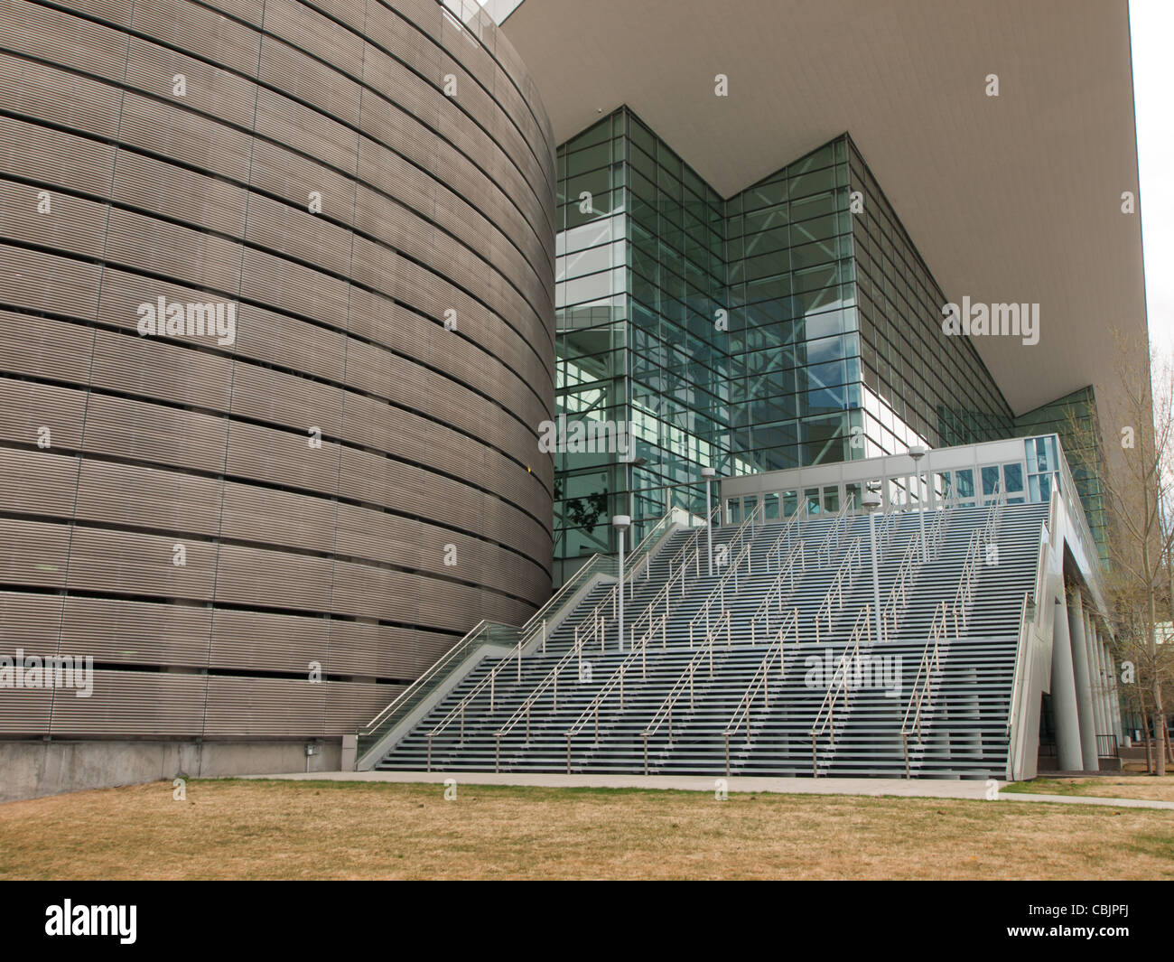Detail of the Colorado Convention Center in Downtown Denver. - Stock Image