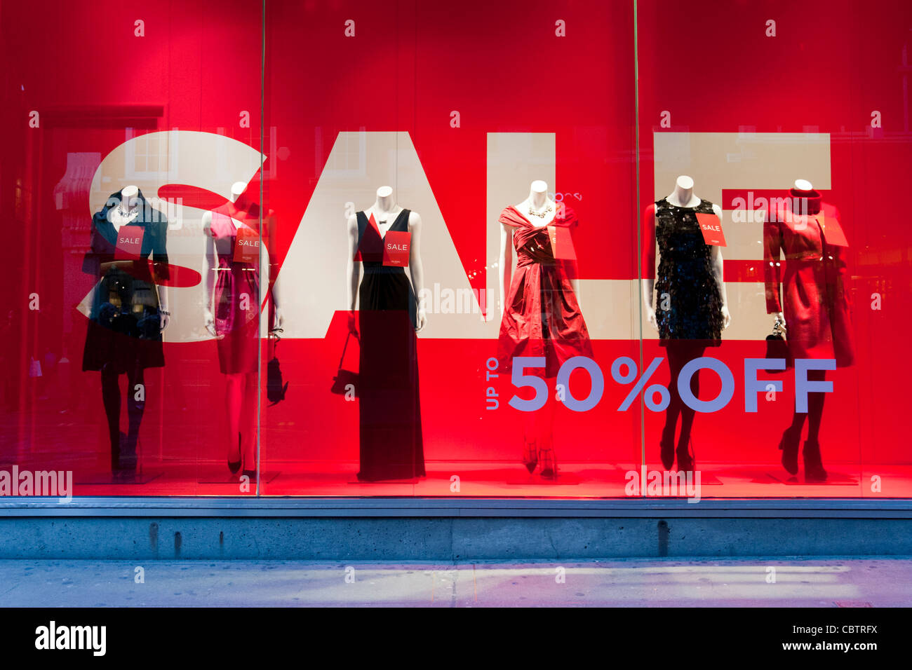 Sales at Hobbs clothes shop, London, England, UK - Stock Image