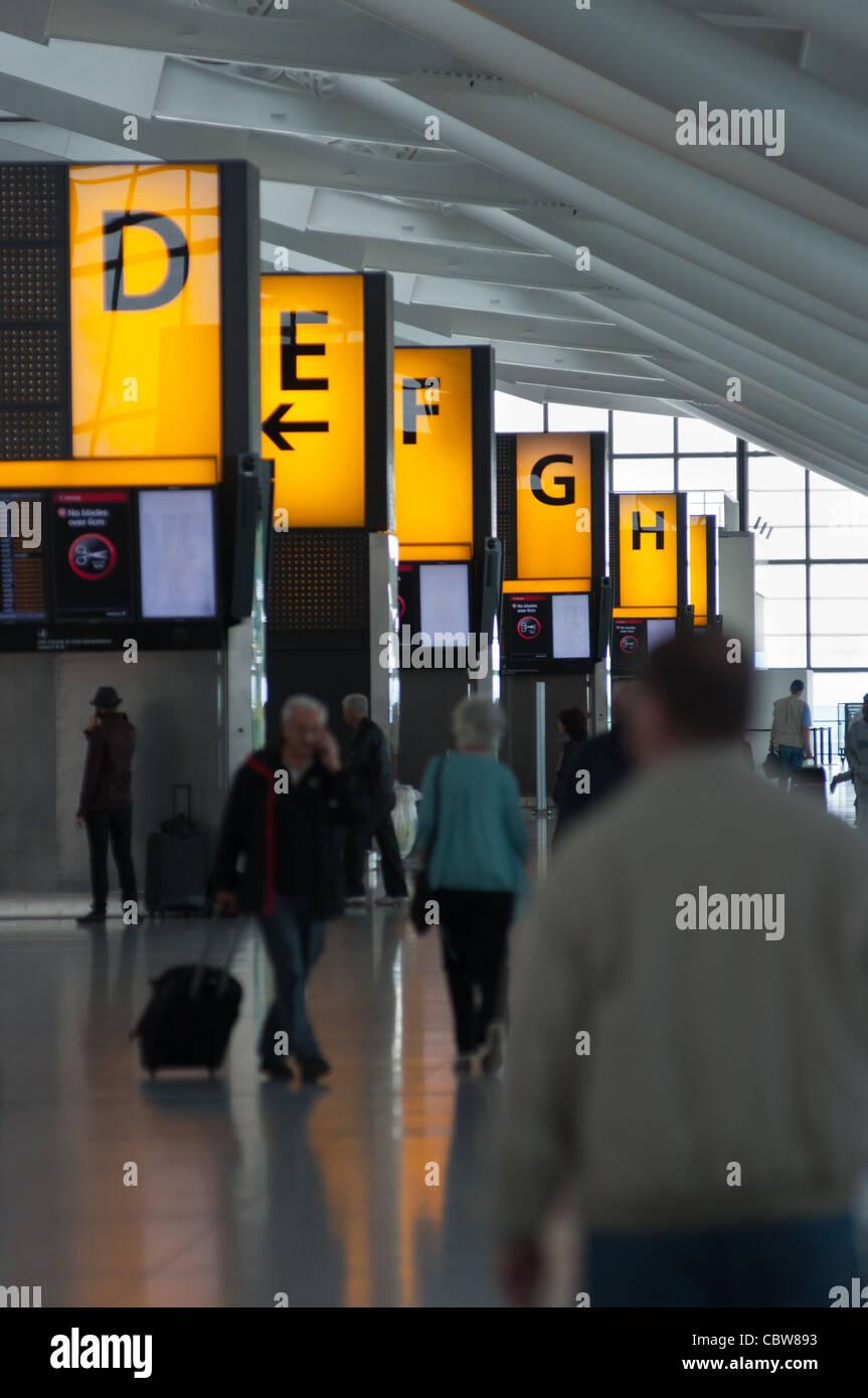 Heathrow airport terminal 5. London. England. - Stock Image