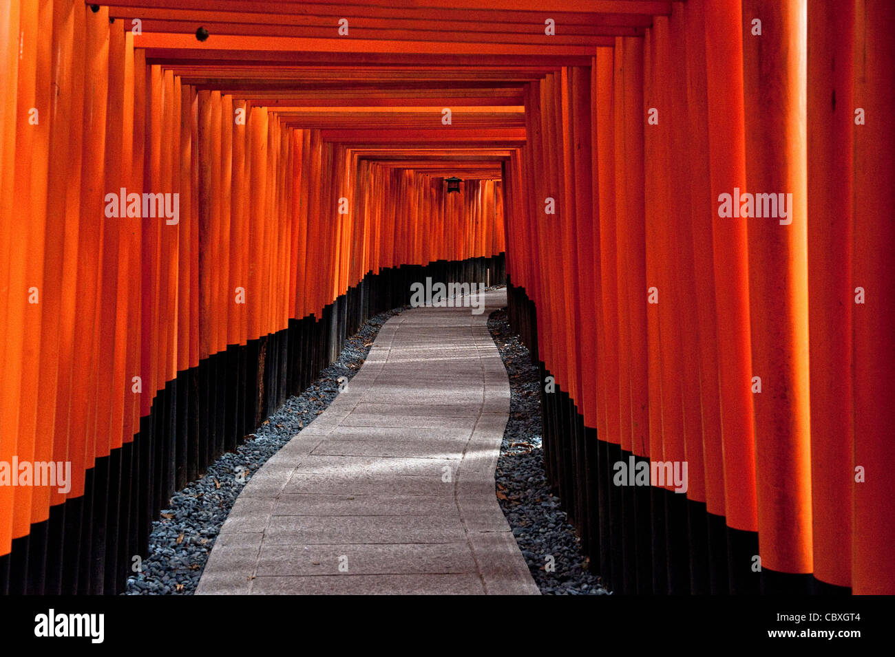 Fushimi Inari Shrine in Kyoto, Japan, Shinto religion, Japan - Stock Image