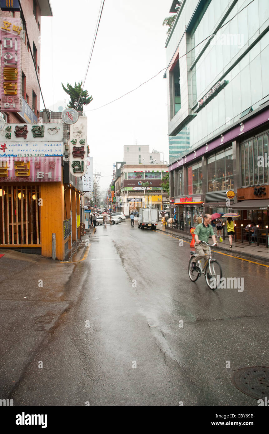 Seoul streets - Korea - during working hours - Stock Image