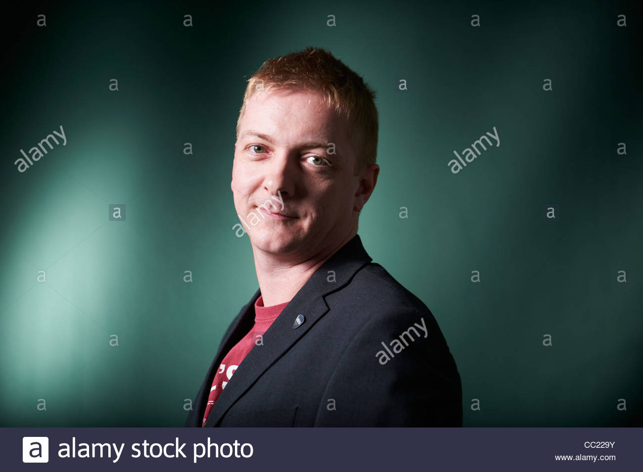 Doug Johnstone, Scottish Novelist and writer at The Edinburgh International Book Festival 2011. - Stock Image