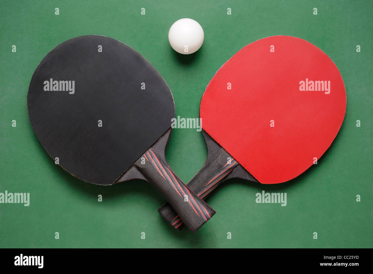 Table Tennis Bats - Stock Image