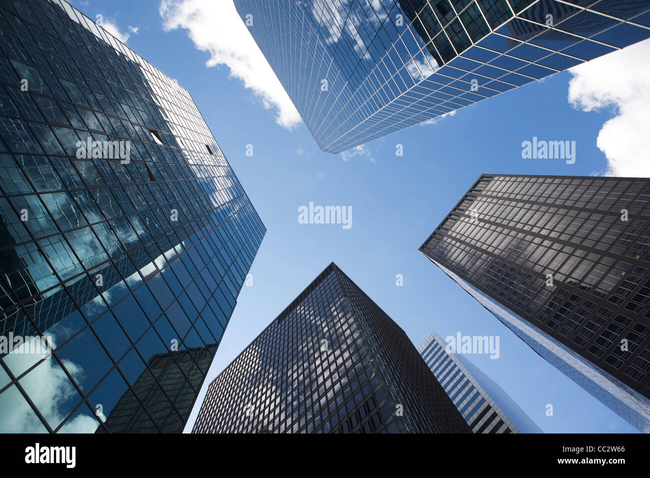 USA, New York State, New York City, Modern office buildings - Stock Image