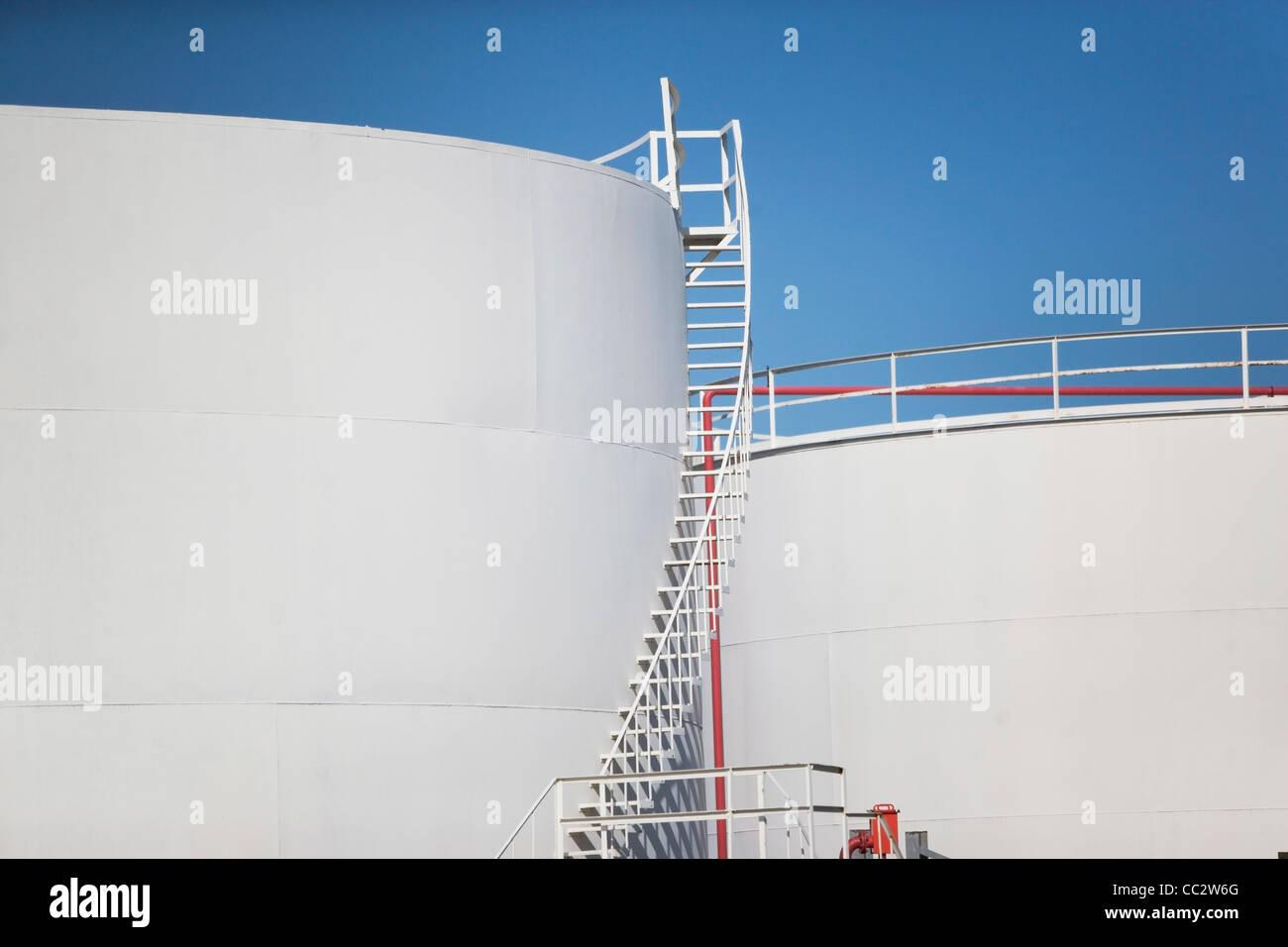 USA, New York State, New York City, Oil tank - Stock Image