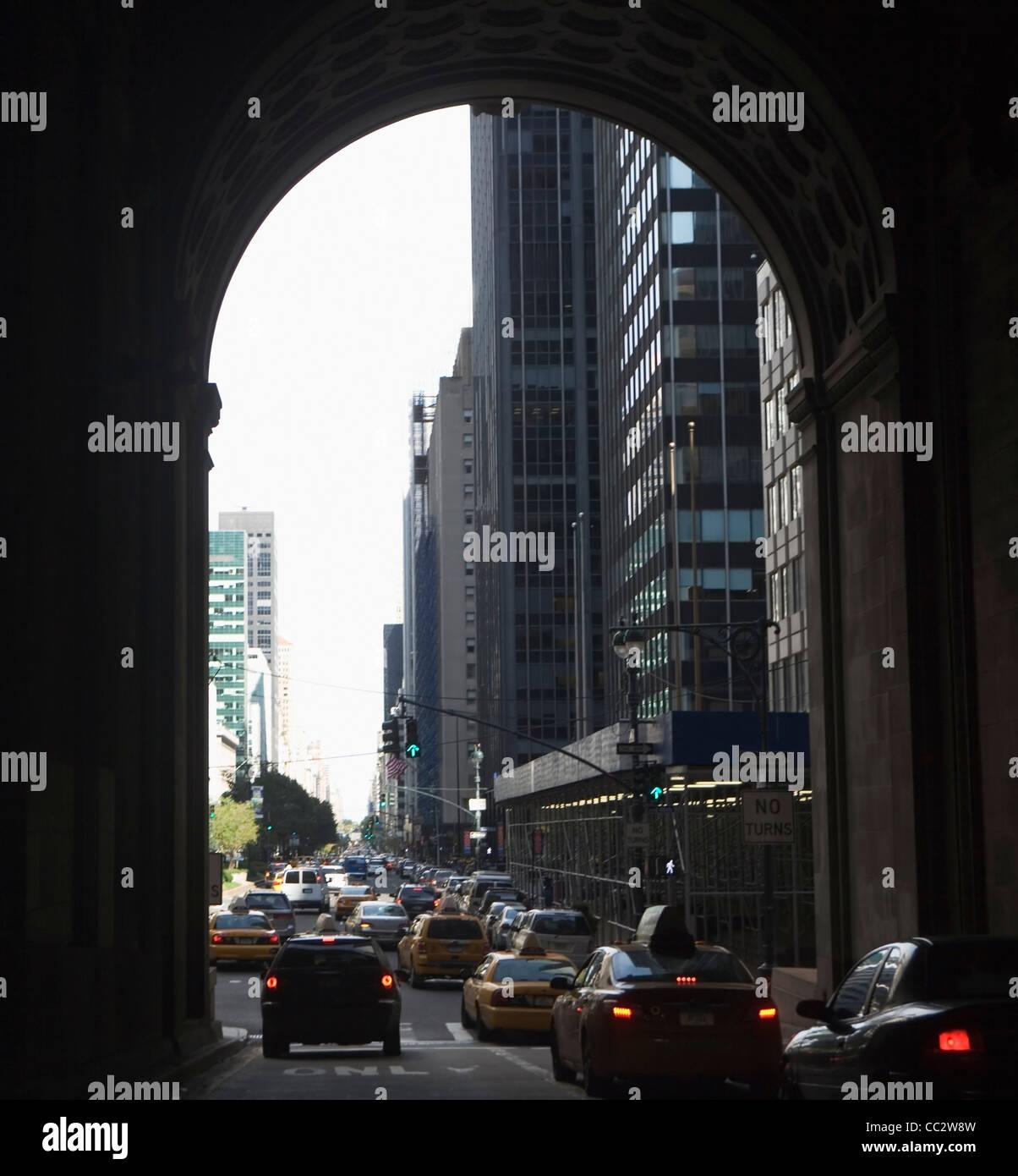 USA, New York State, New York City, City street - Stock Image