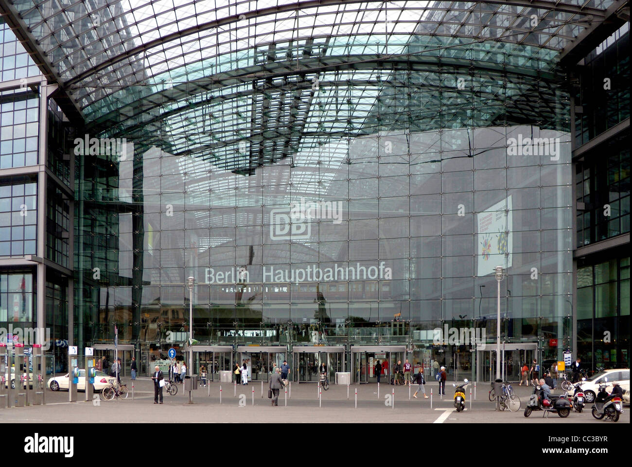 Central train station of Berlin. - Stock Image
