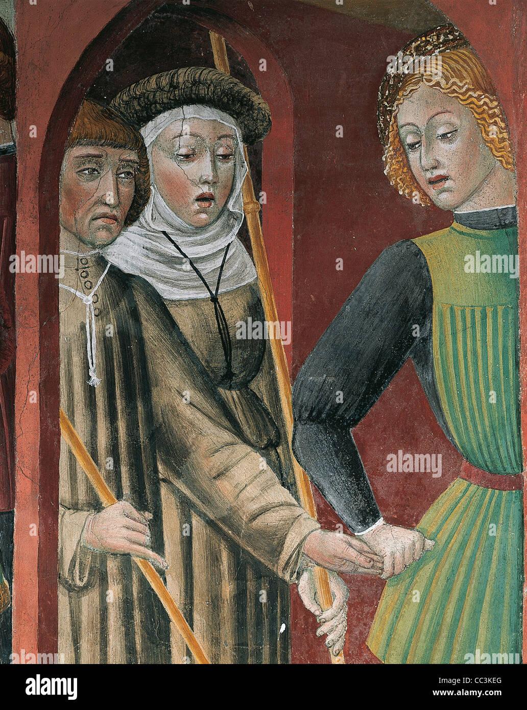 Lombaridia Praise Church Of San Francesco Frescoes Stock Photo