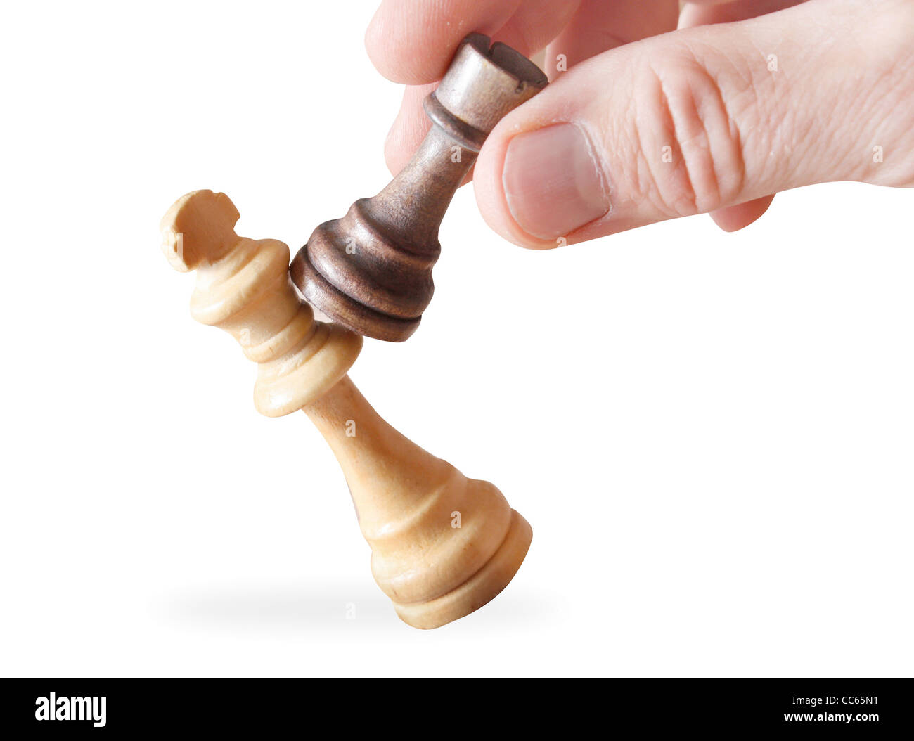 Chess as a metaphor for stock markets - Stock Image