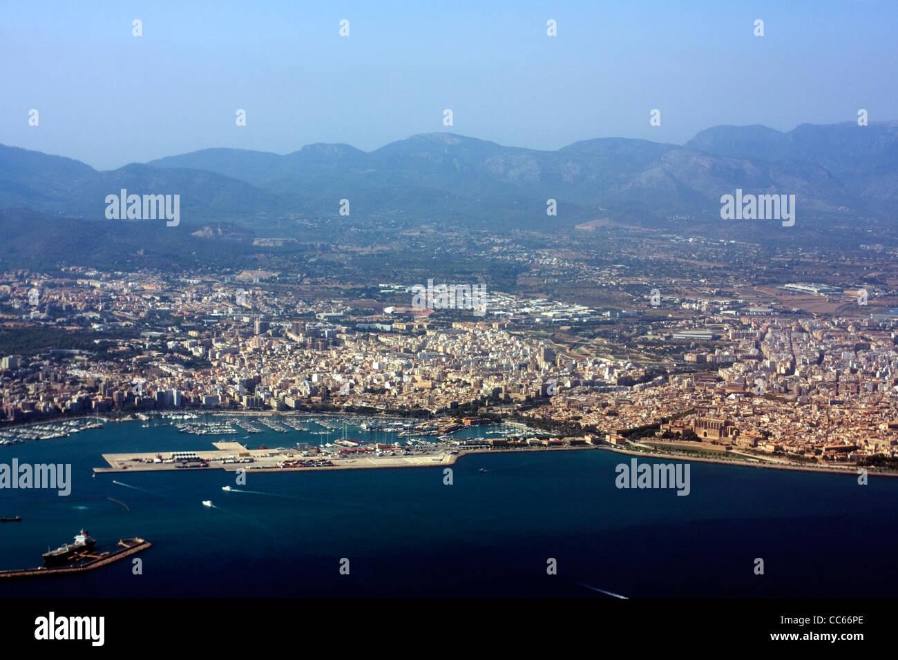 Aerial view of Palma, Majorca, Spain - Stock Image