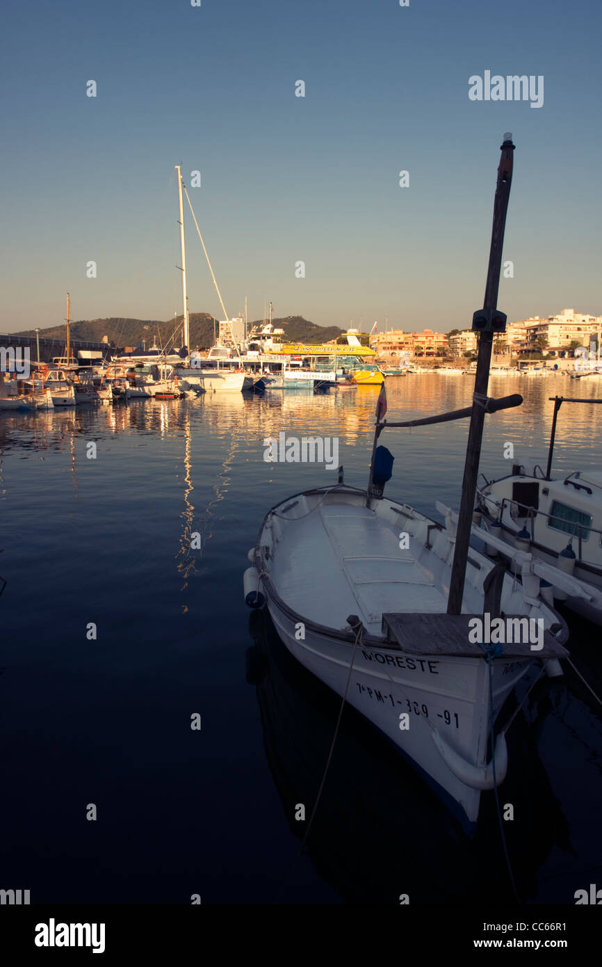 Fishing boats at Cala Ratjada harbour, Majorca, Balearic Islands, Spain Stock Photo