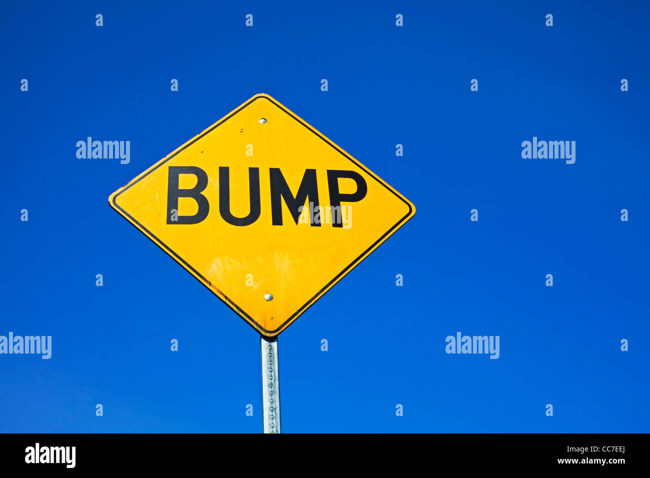 speed bump sign - Stock Image