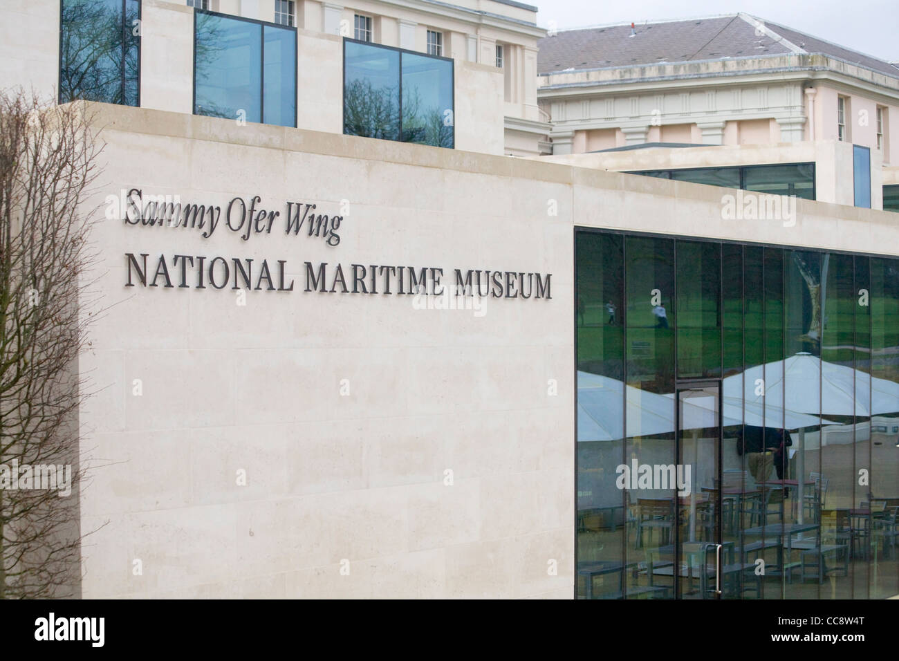 Sammy Ofer wing, National Maritime Museum, Greenwich, London - Stock Image