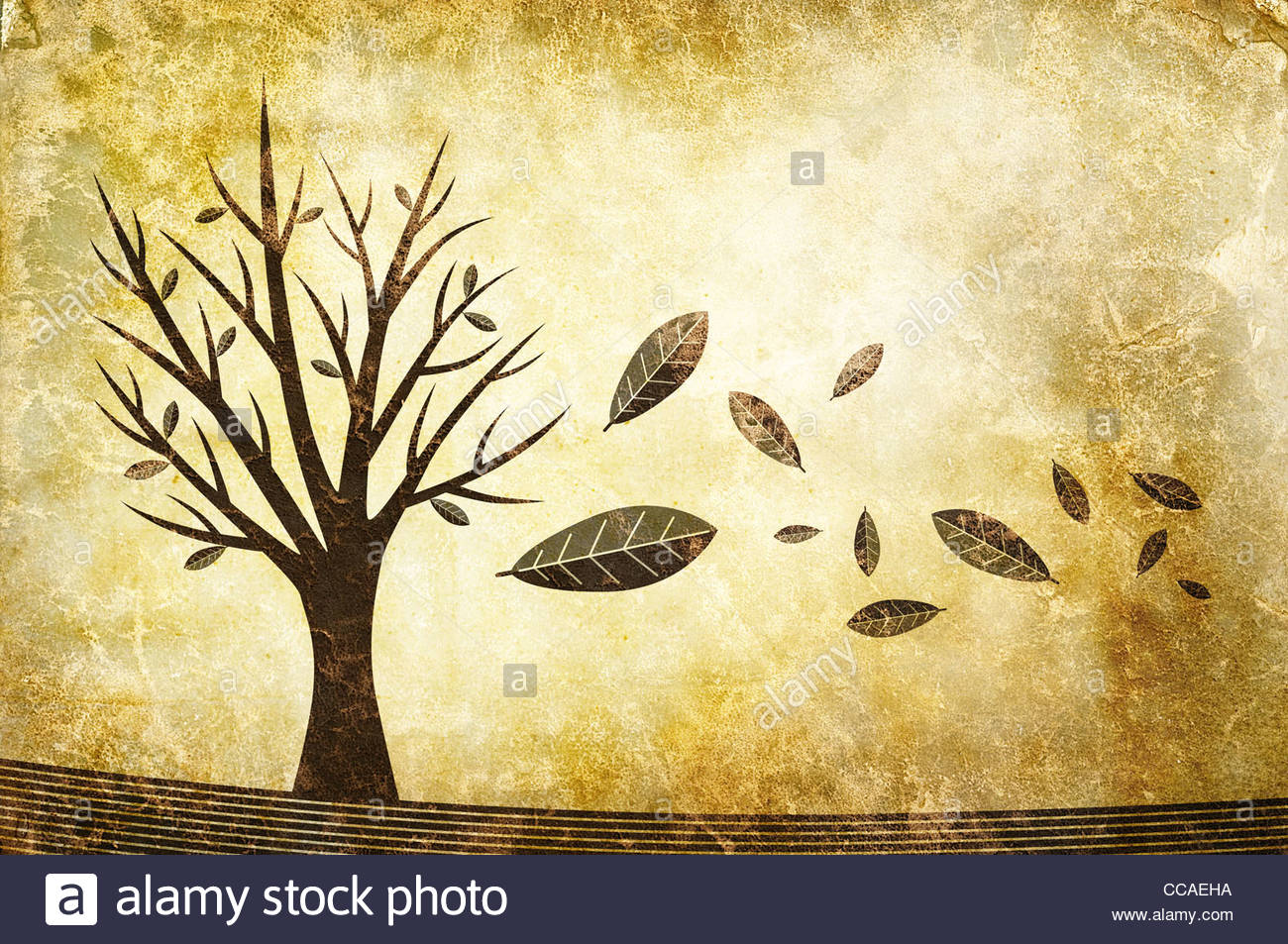 autumn illustration - Stock Image