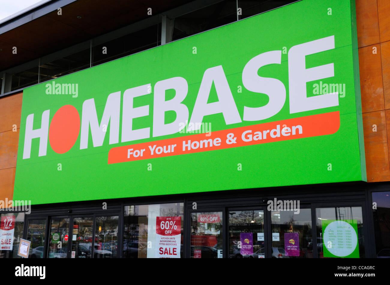 Homebase DIY Shop, Cambridge, England, UK Stock Photo