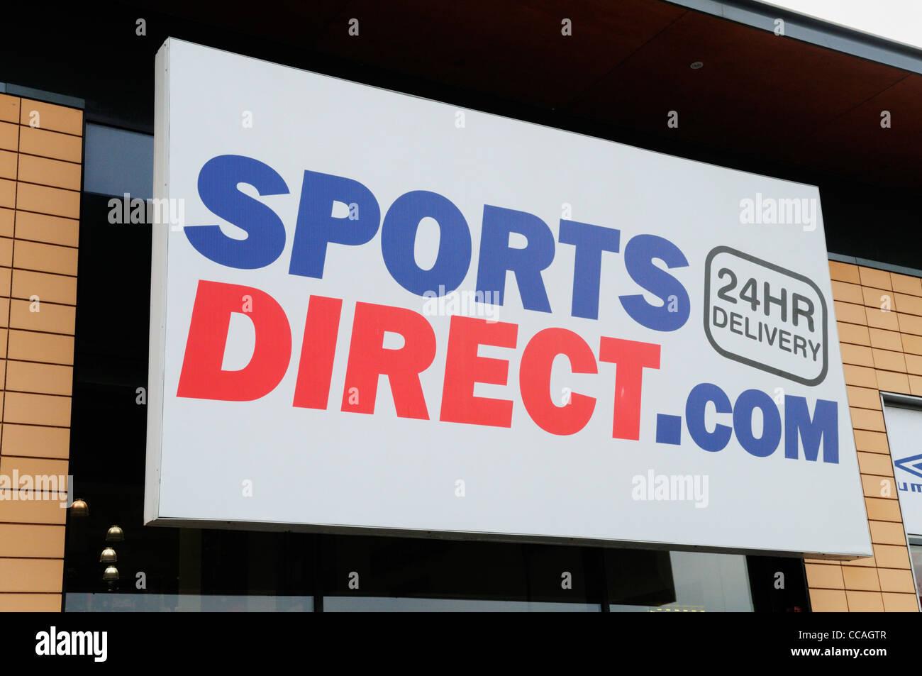 SportsDirect.com sign, Cambridge, England, UK - Stock Image