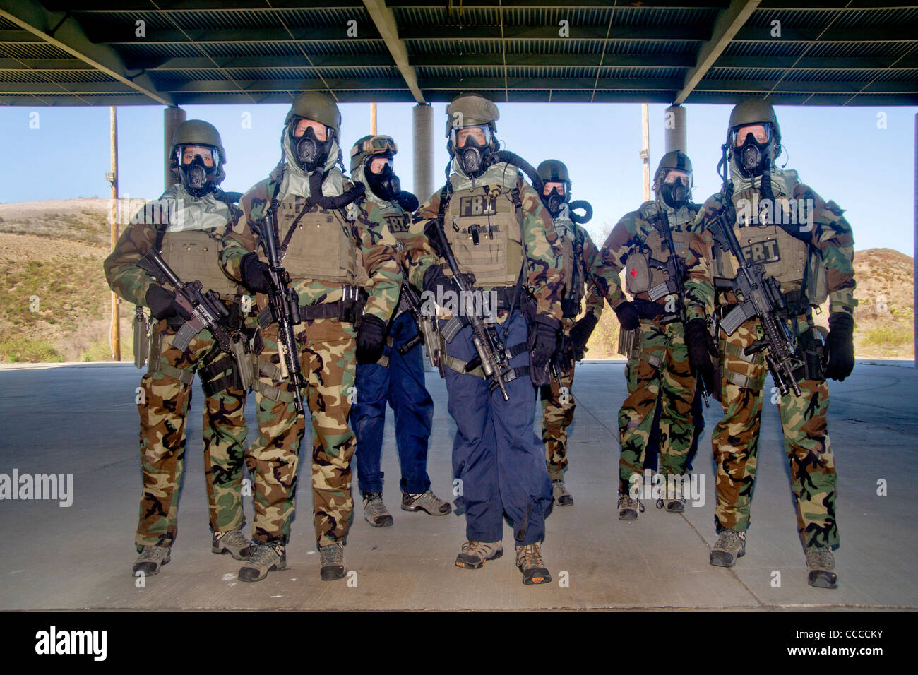 Fbi Swat Special Weapons And Tactics Team Members Wear Specialized