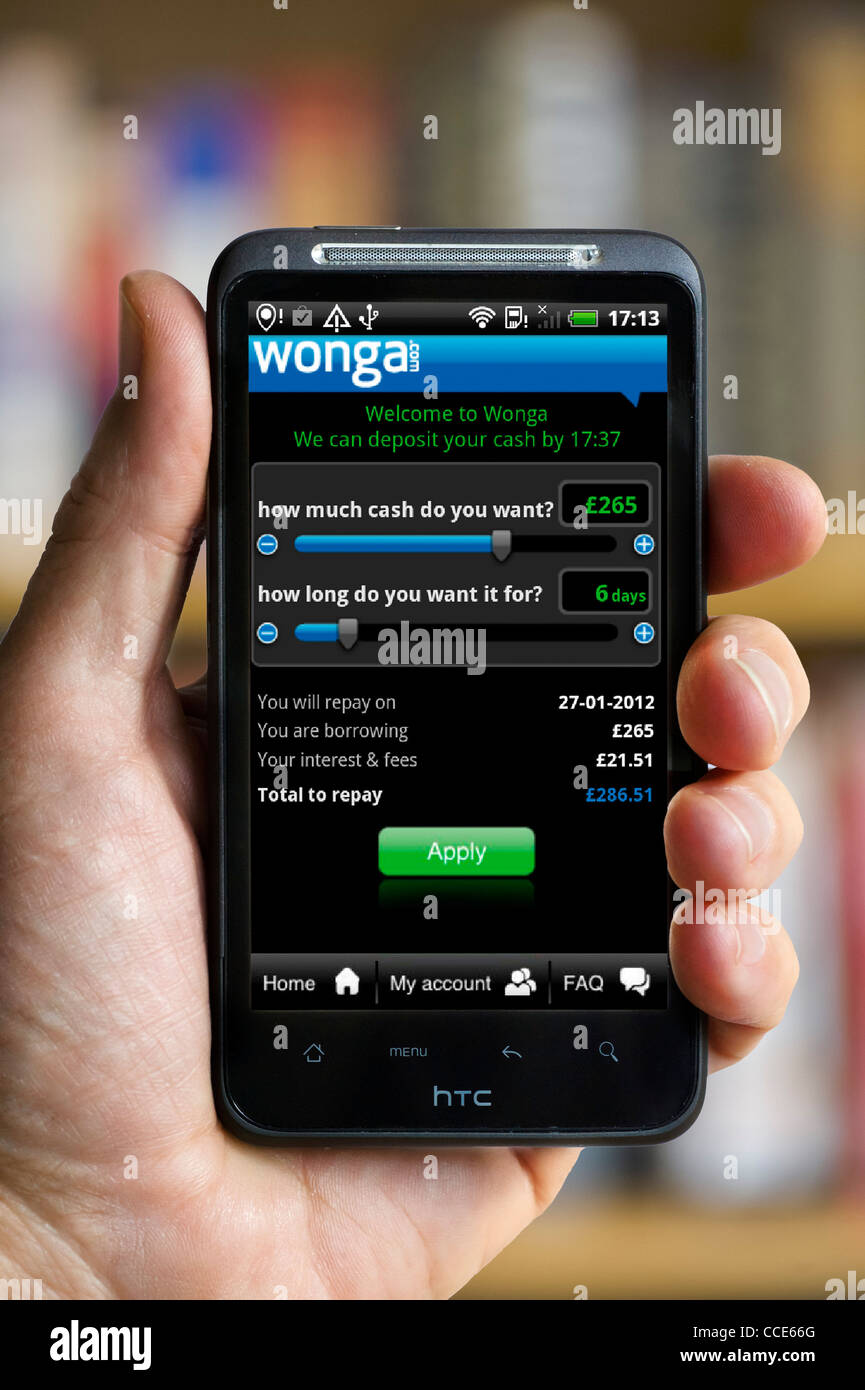 Wonga mobile app