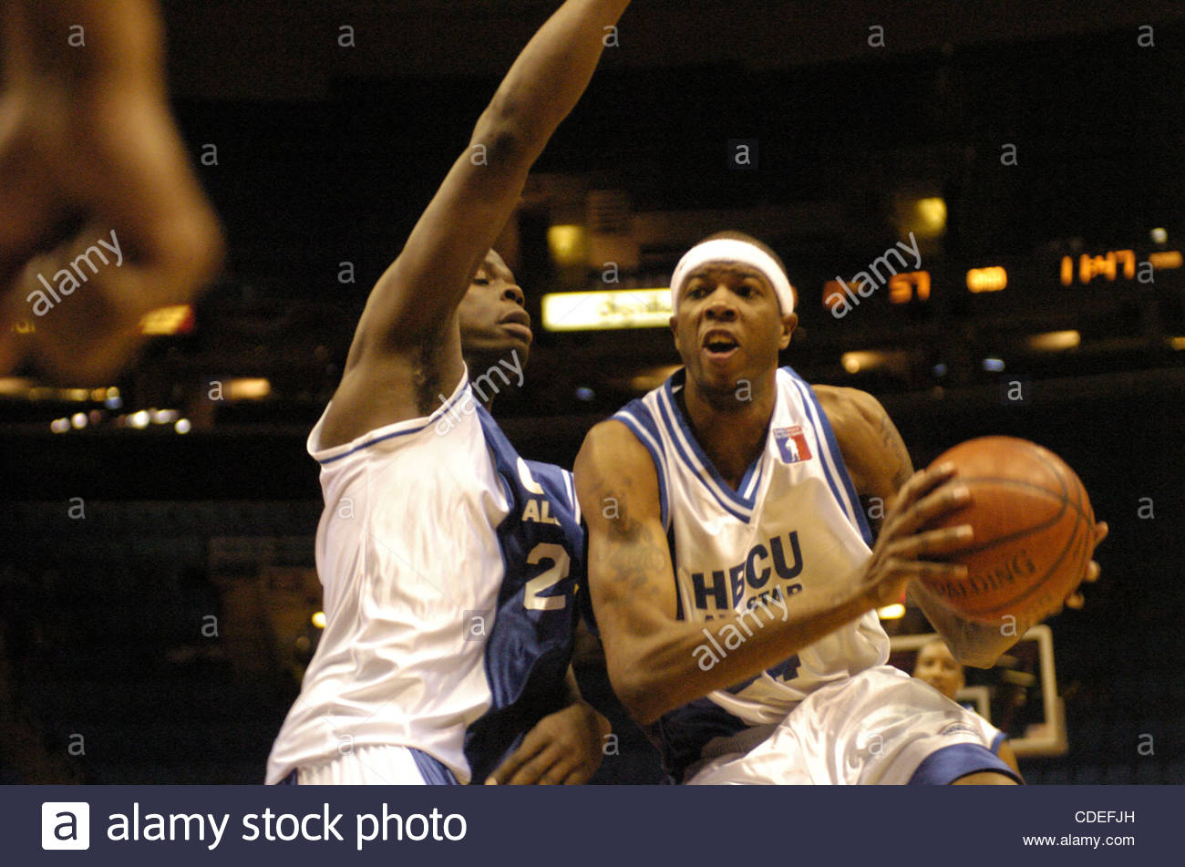 Apr. 16, 2005 - Cleveland, OH, USA - BasketballKenyon Gamble, playing for the HBCU All-Stars drives to the Stock Photo