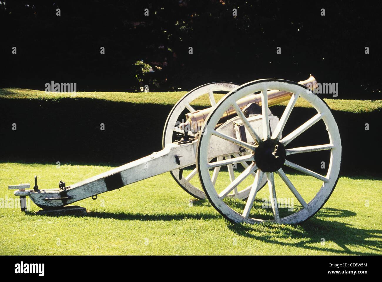 old antique cannon gun tamil nadu india - SDB 83293 - Stock Image