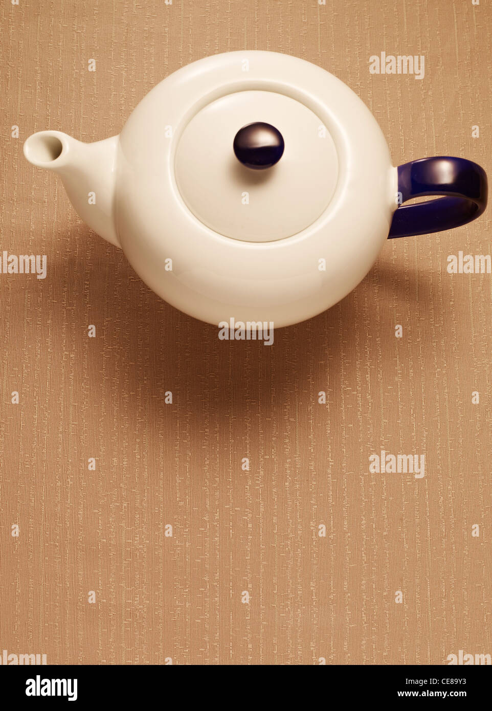 Teapot from above - Stock Image