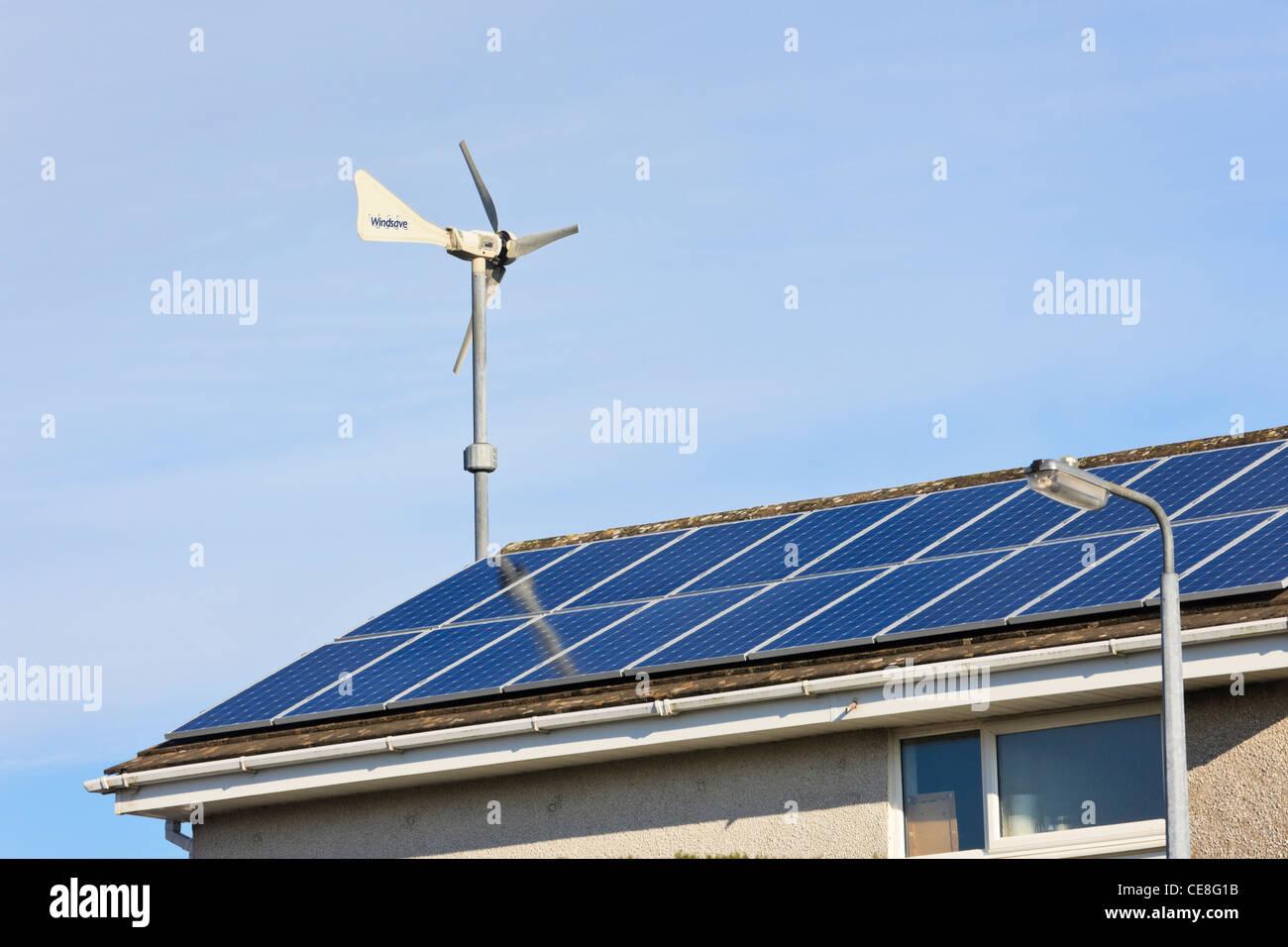 Uk Windsave Micro Wind Turbine And Solar Panels On A