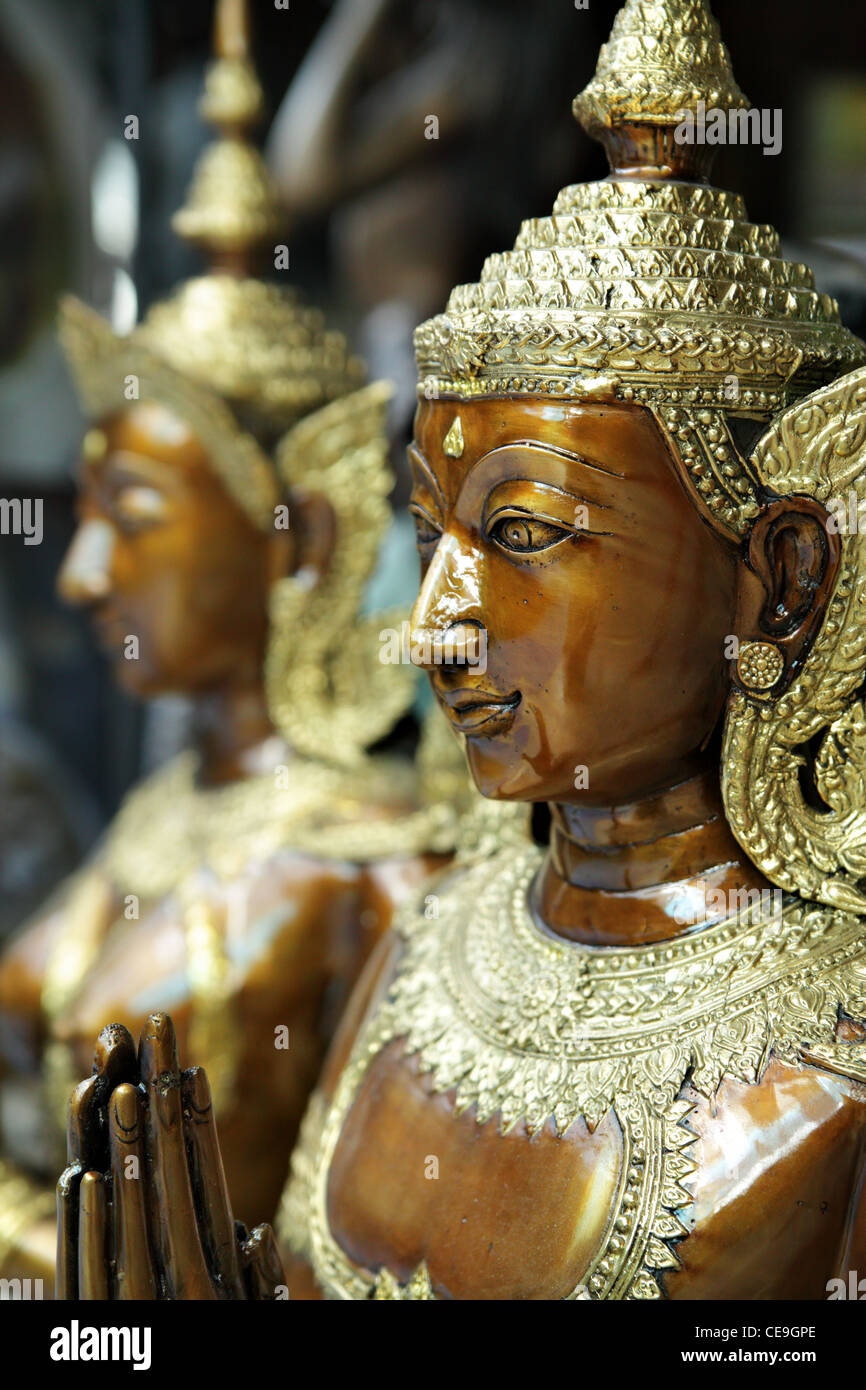Kinnara statue - a kind of mythological creature - Stock Image