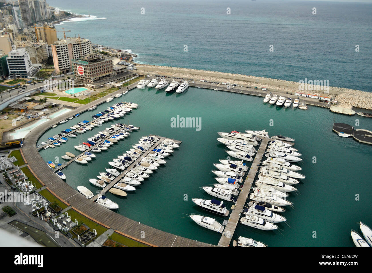 St.George Marina in Beirut, seaport - Stock Image