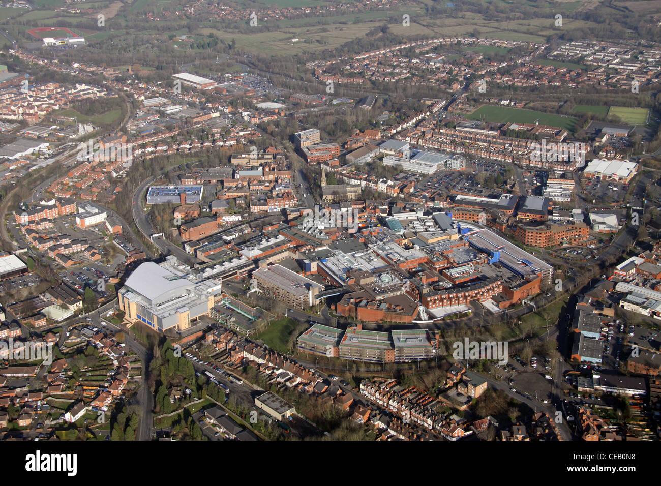 Aerial image of Redditch, West Midlands - Stock Image