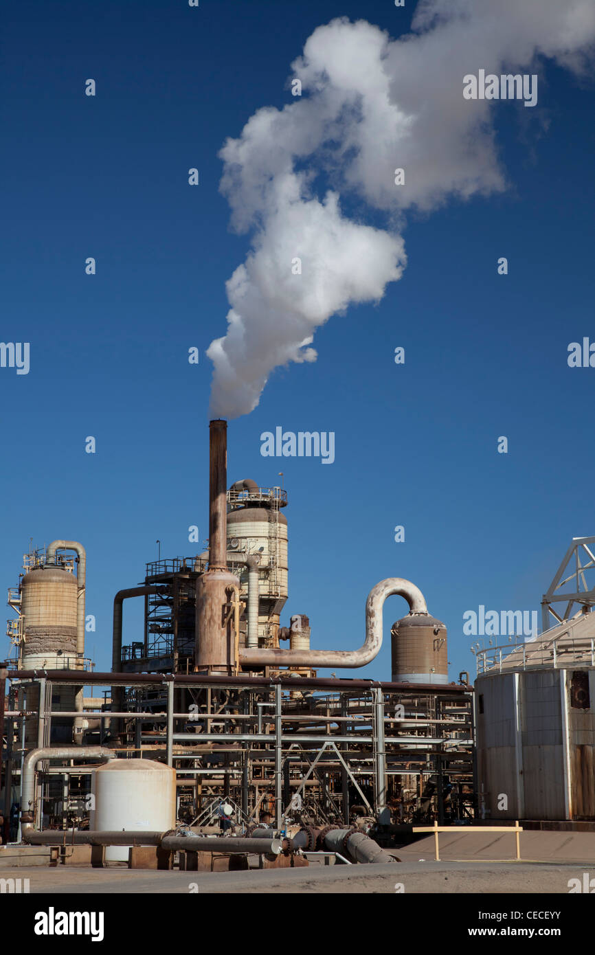 Calipatria, California - A geothermal energy plant operated by CalEnergy in California's Imperial Valley. - Stock Image