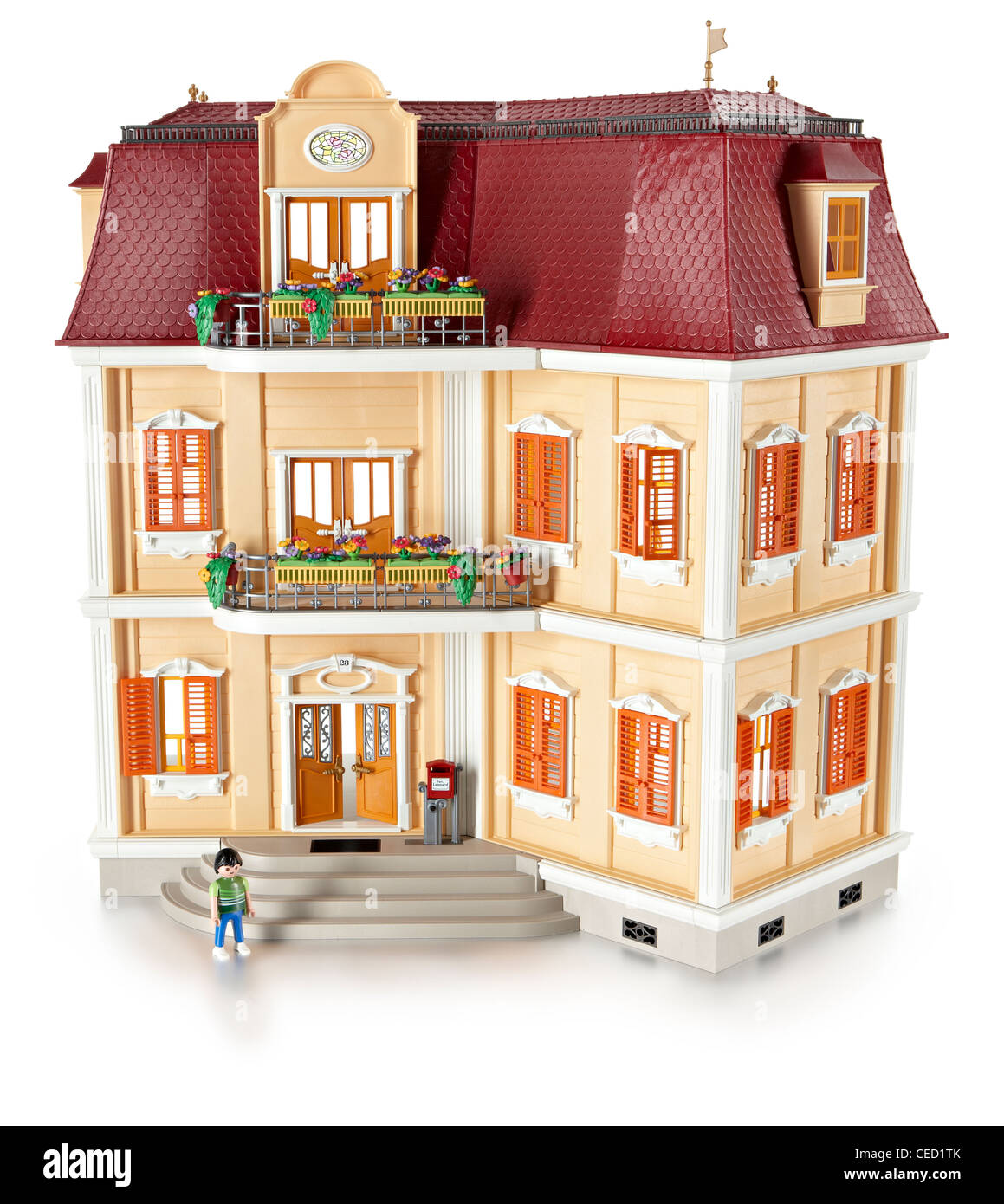 Play mobile mansion house - Stock Image