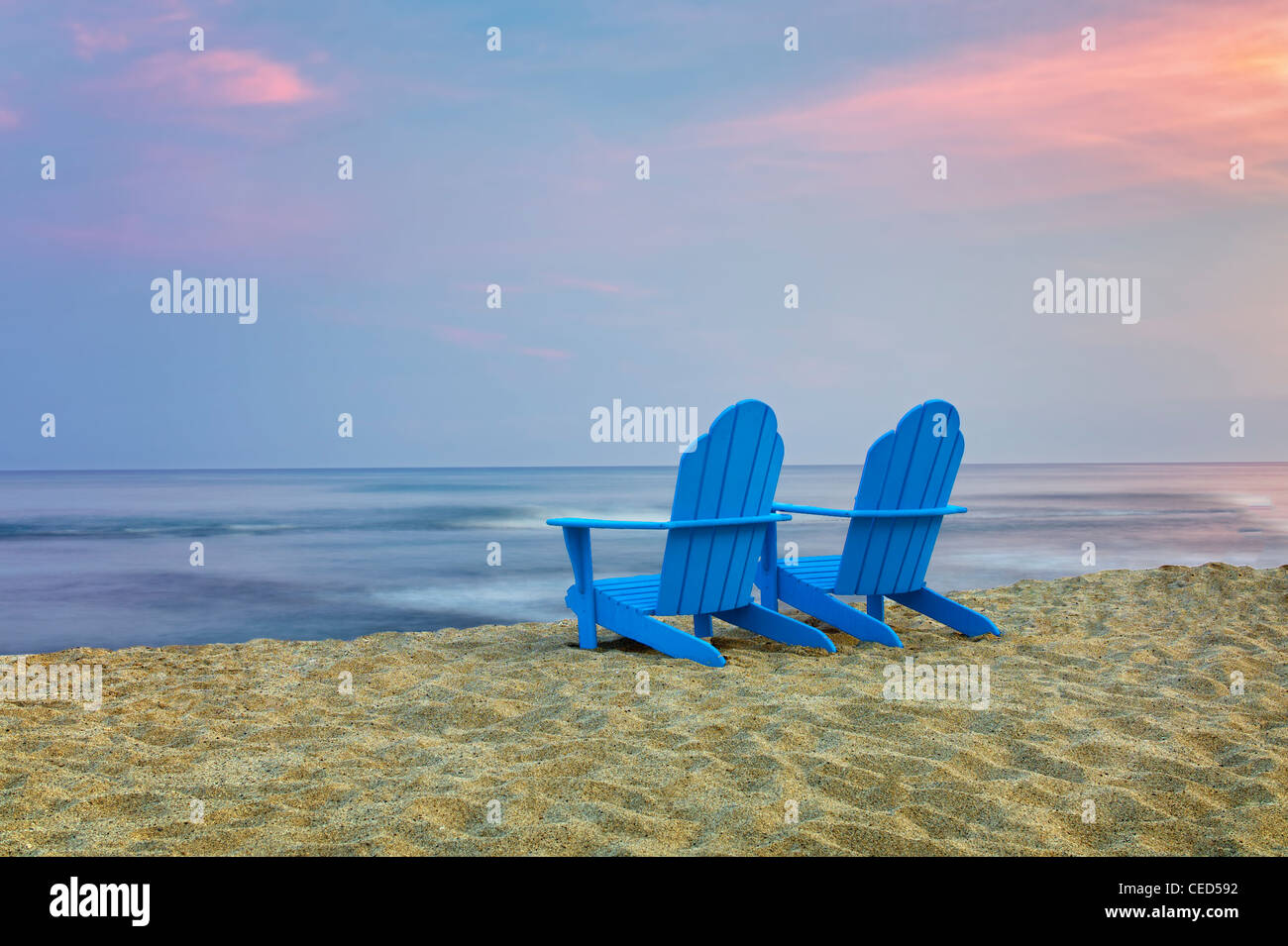 Adirondack chairs on beach Beach Painting Two Adirondack Chairs On Beach Hawaii The Big Island Alamy Two Adirondack Chairs On Beach Hawaii The Big Island Stock Photo