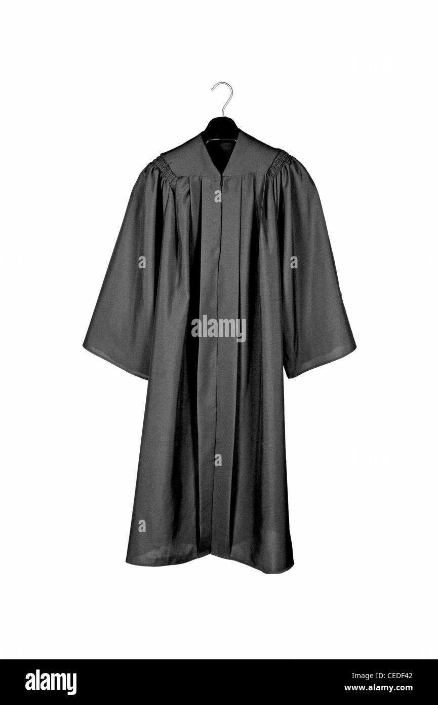 A black graduation gown isolated on white Stock Photo: 43323170 - Alamy