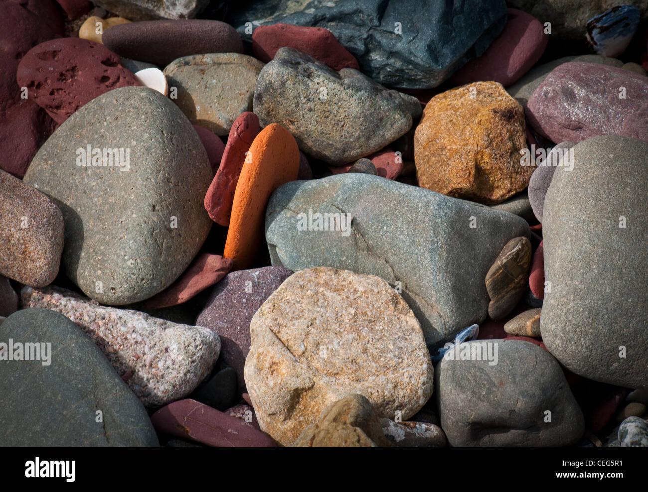 Close up views of the coast - Stock Image