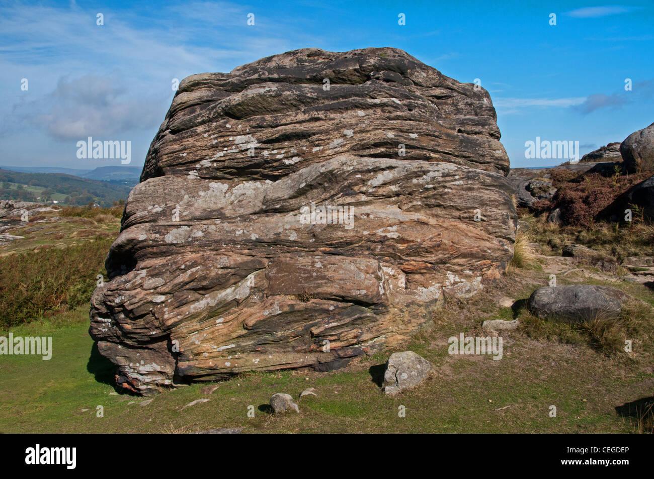 Froggatt Edge, Peak District - Stock Image