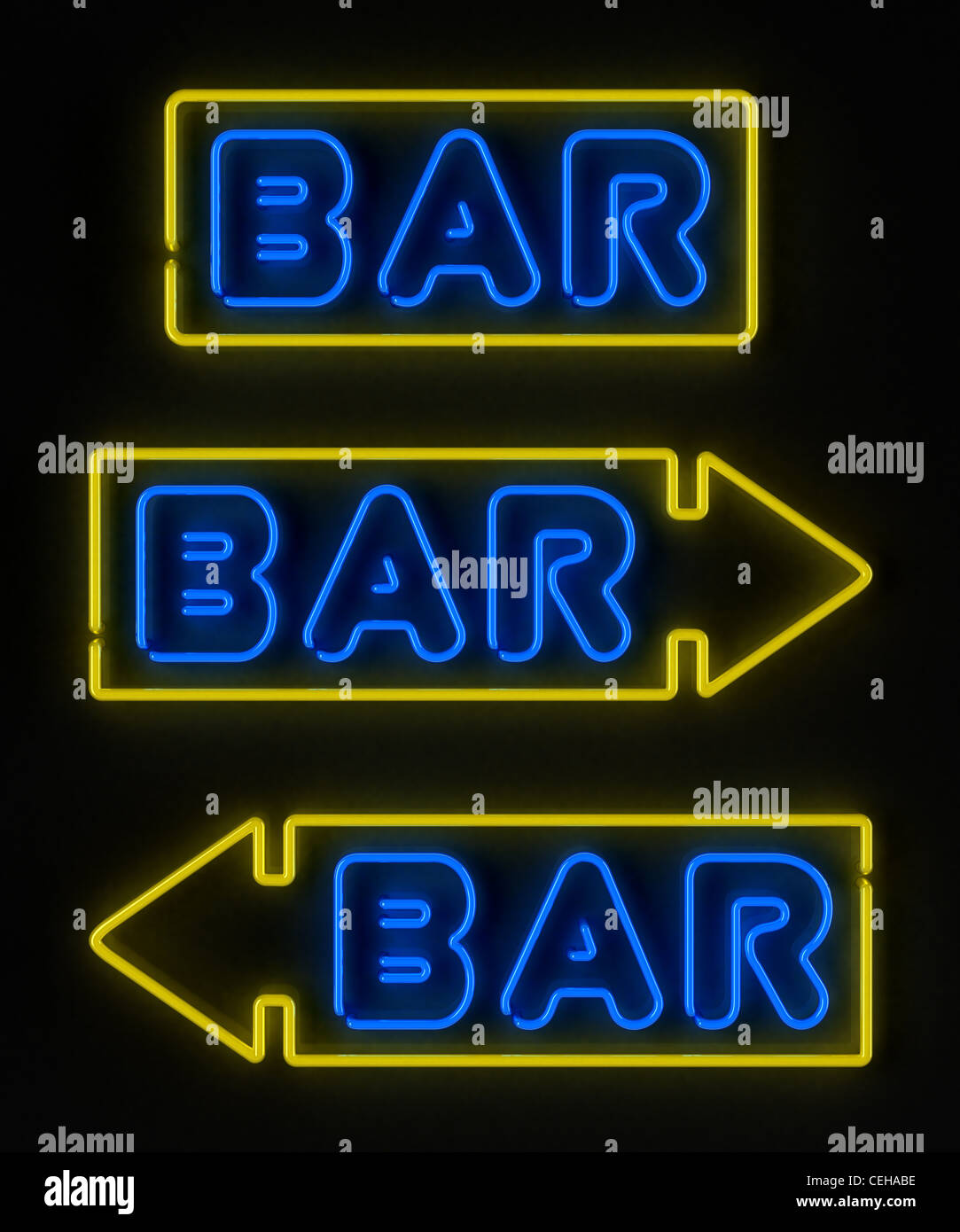 Neon bar sign - Stock Image