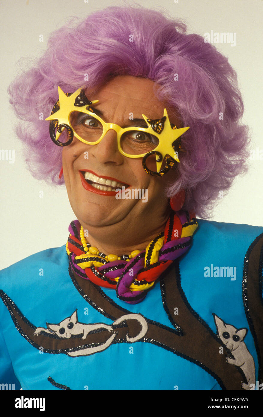 Dame Edna Everage Barry Humphries. HOMER SYKES ARCHIVE - Stock Image