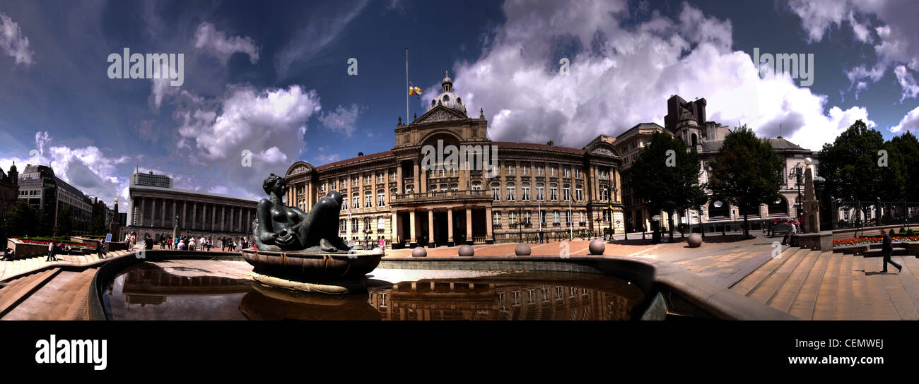Birmingham Victoria Square,West Midlands,England,UK,Panorama,The,floosy,floosie,in,the,jacoozi,2nd,city,second,metropolis,town,hall,pano,joiner,stitched,image,gotonysmith,wideshot,Wide shot,gotonysmith,hotpixuk,@hotpixuk,City,centre,tourist,tourism,travel,Buy Pictures of,Buy Images Of,Birmingham City,Birmingham city Centre