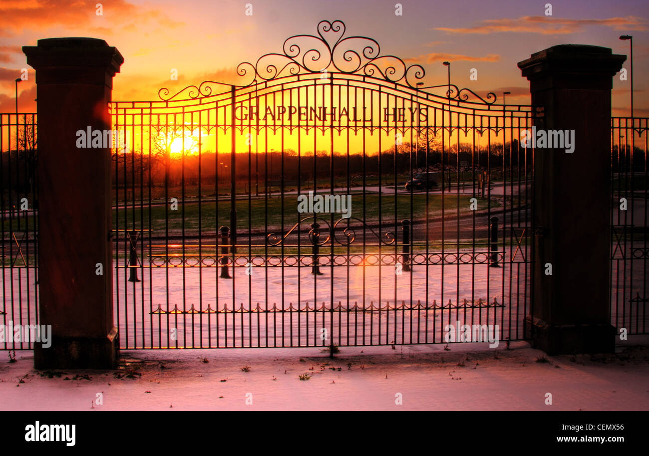 The Grappenhall Heys Gates,luxury,South,Warrington,homes,and,houses,in,a,Cheshire,set,gated,community,England,UK.,At,sunset,snow,ice,winter,gotonysmith,school,walled,garden,orange,pink,Astor,drive,Witherwin,Ave,Avenue,Lumb Brook Road rd,Dashwood Close,gotonysmith,Buy Pictures of,Buy Images Of