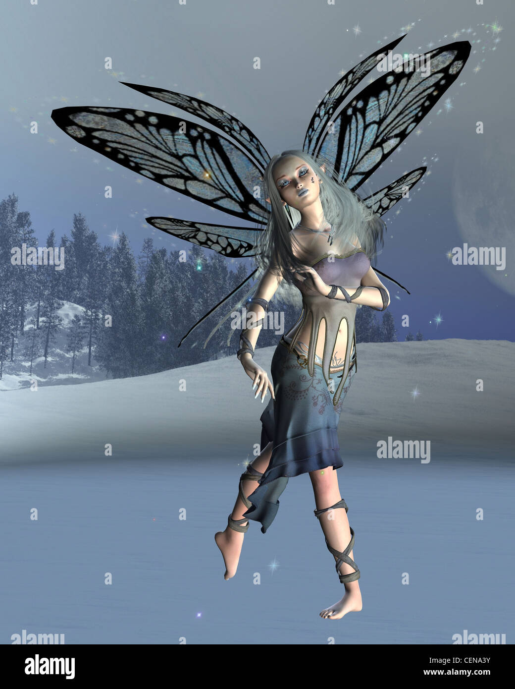 Winter Frost Fairy - Stock Image