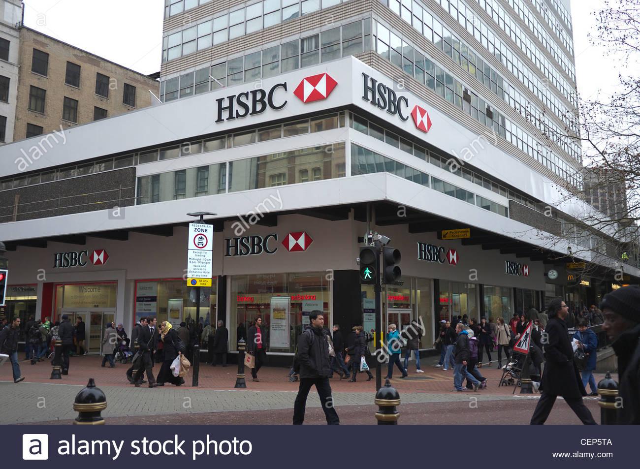 HSBC bank, New Street, central Birmingham, UK Stock Photo ...