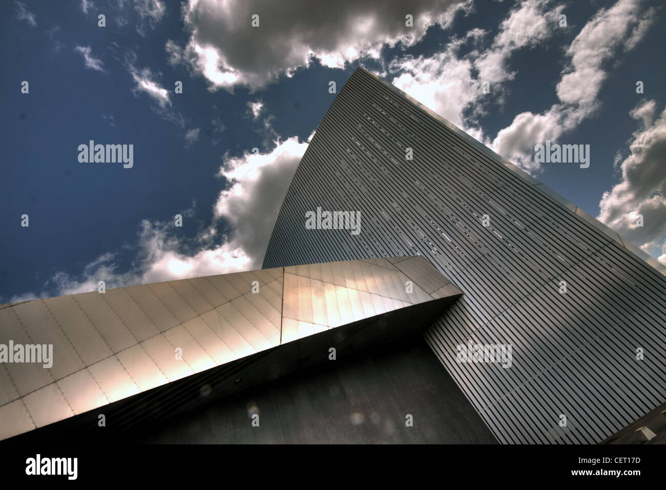Imperial,War,Museum,North,Abstract,Salford,Quay,Manchester,sky,dramatic,clouds,looking,upwards,up,Berlin,based,architect,Daniel,Libeskind,gotonysmith,Quays,England,UK,United,Kingdom,GB,Great,Britain,gotonysmith,Buy Pictures of,Buy Images Of