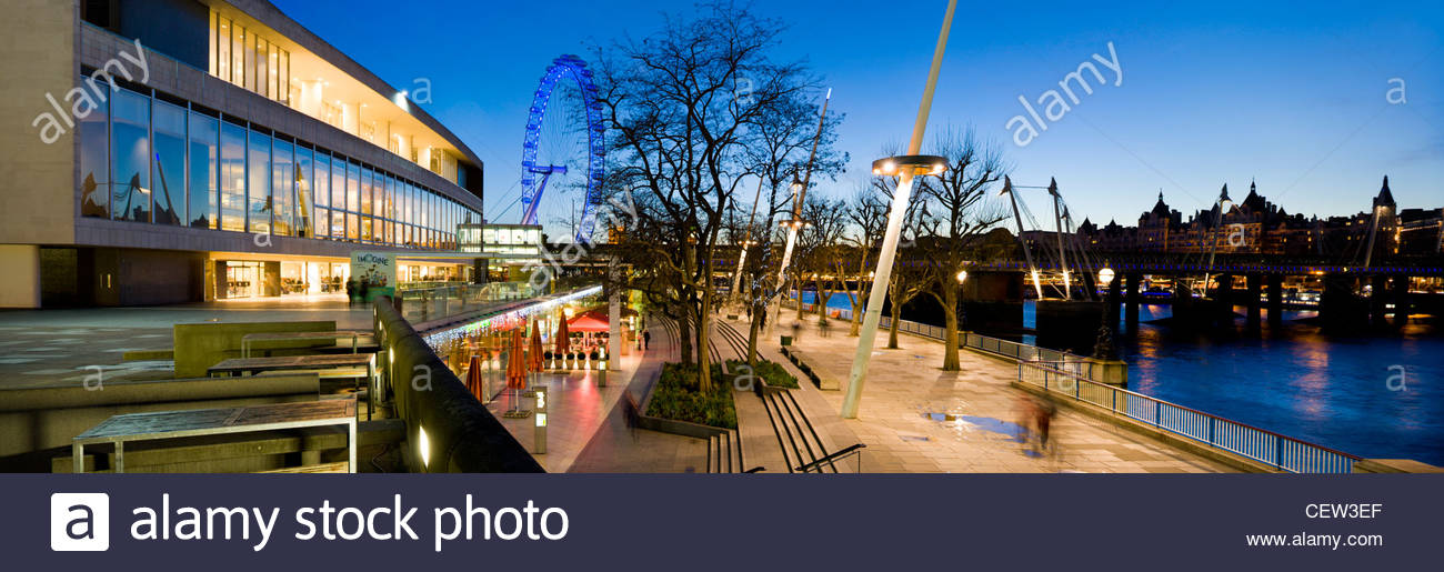 Royal Festival Hall on the South Bank, London - Stock Image