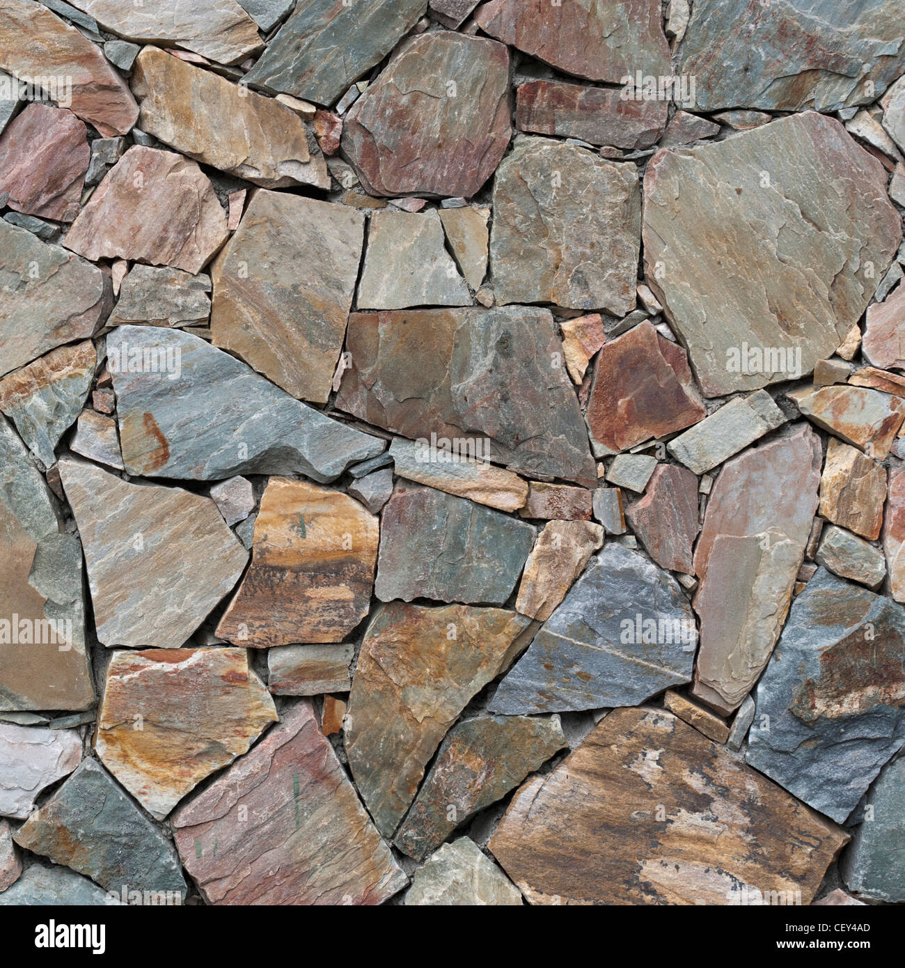 flat rock laid for a path; alberta, canada - Stock Image