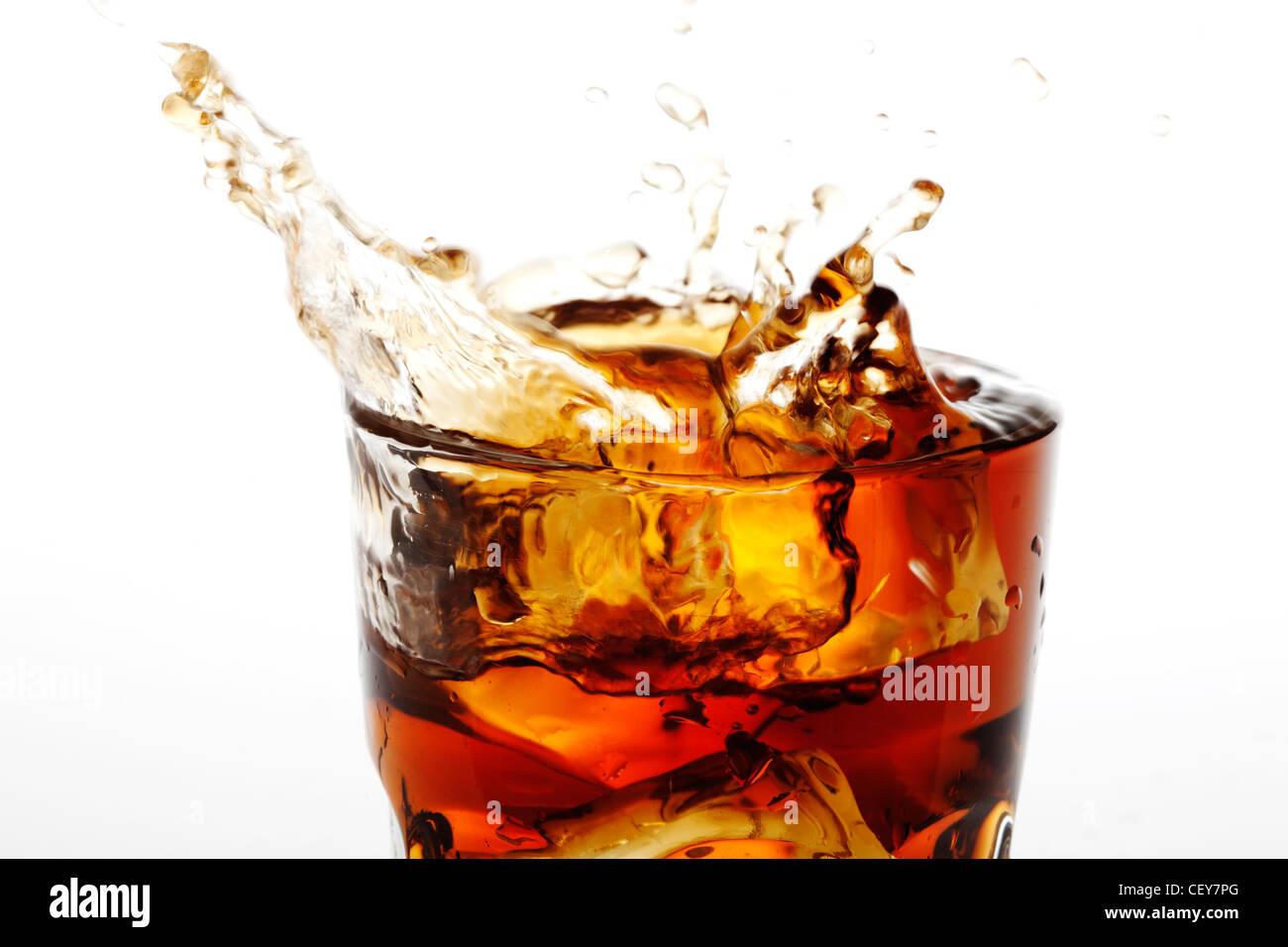 cola splash - Stock Image