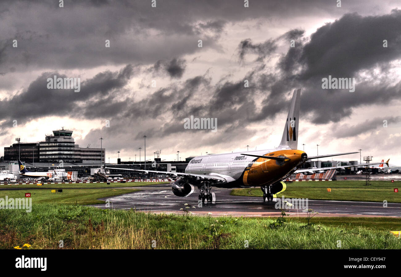 Monarch,Aircraft,taxi-ing,into,Manchester,terminal,2,Lancashire,UK,taxiing,terminals,ringway,gotonysmith,airport,runway,MAN,MAG,Manchester,Airports,Group,successful,landing,taxi,Manchester Airports Group,Manchester Airport,is an international airport in Ringway,Manchester,England.,In,2012,it,was,third,busiest,airport,in,the,United,Kingdom,in,terms,of,passenger,numbers,and,the,21st,busiest,airport,in,Europe,busy,Manchester,Airport,(IATA,MAN,ICAO,EGCC),is an international airport in Ringway,Manchester,England.,In,2012,it,was,third,busiest,airport,in,the,United,Kingdom,in,terms,of,passenger,numbers,and,the,21st,busiest,airport,in,Europe.,Manchester,Airport,is,the,largest,outside,the,London,region,with,over,double,the,passengers,of,its,nearest,non-London,rival,Edinburgh Airport. A Category 10 airport,Manchester,Airport,provides,flights,to,over,200,destinations,–,more,than,any,other,airport,in,the,United,Kingdom.,The airport comprises three terminals,a,goods,terminal,and,is,the,only,British,airport,other,than,London,Heathrow,2,3,4