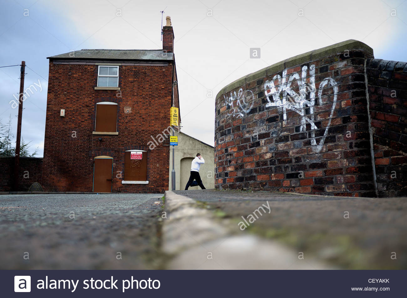 Belmont Row area, a rundown area awaiting development as part of the Eastside regeneration project in Birmingham, Stock Photo